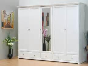 Kleiderschrank Weiß Spiegel : kleiderschrank schrank nice 5 trg mit spiegel weiss neu ebay ~ Frokenaadalensverden.com Haus und Dekorationen
