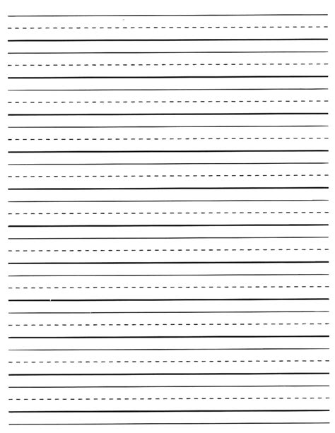 writing lines template printable kindergarten writing paper with picture box editable pdf
