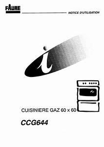 Notice Cuisini U00e8re Faure Ccg644c1 Trouver Une Solution  U00e0 Un