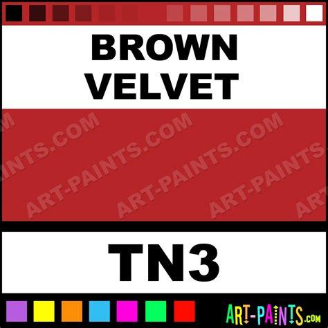 brown velvet powder ink paints tn3 brown