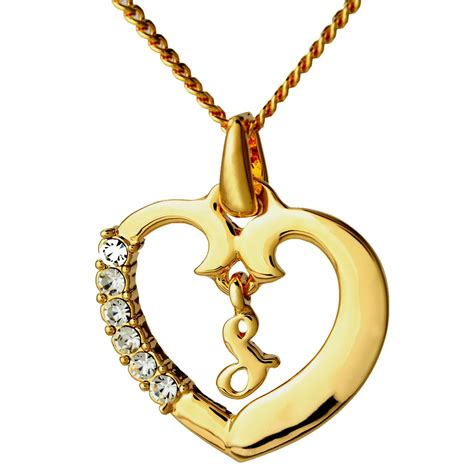 letter k necklace initial necklace letter s 18k yellow gold plated