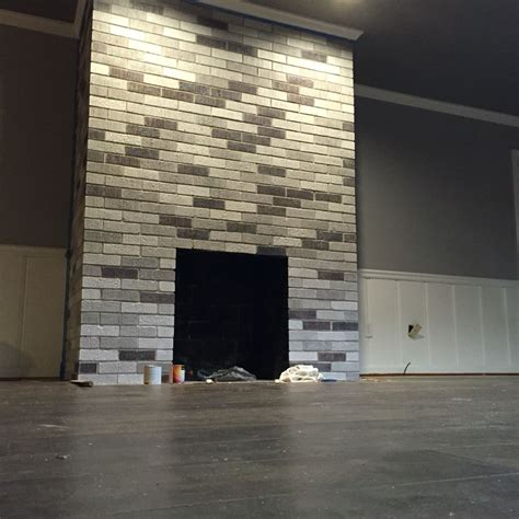 fireplace project painted  brick