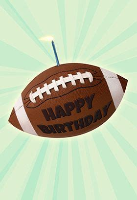 football   candle birthday card  images