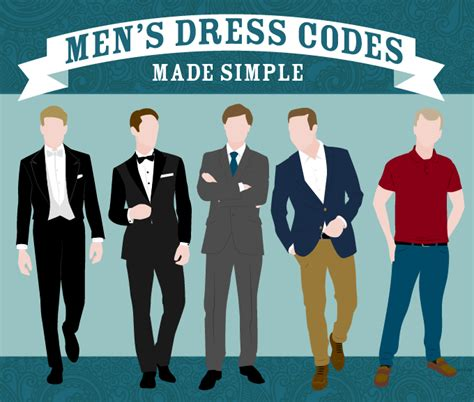 Men's Dress Codes  Made Simple In An Infographic