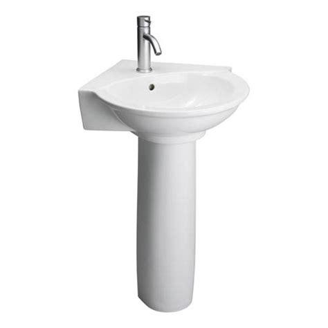 evolution white corner pedestal sink barclay products