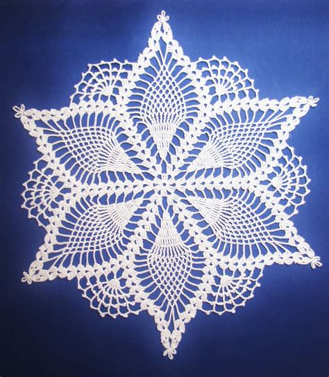 doily patterns bellacrochet the snow queen doily pattern is now available
