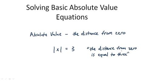 Basic Absolute Value Equations Overview