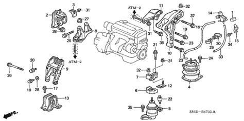 automobile air conditioning repair 2001 honda accord engine control oem 2001 honda accord coupe engine mounts l4 at 3 parts hondapartsonline net