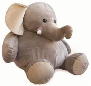 Peluche Geante Elephant : histoire d ours peluche g ante elephant gris 80 cm ~ Teatrodelosmanantiales.com Idées de Décoration