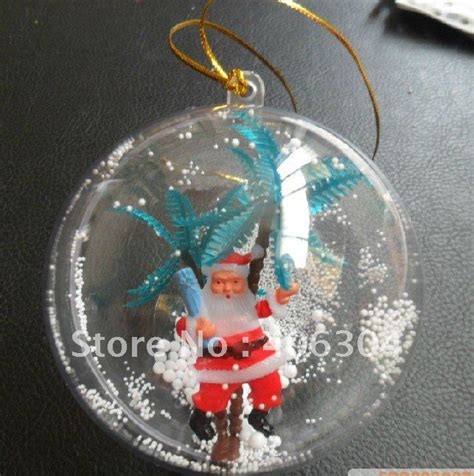 free shipping 12cm transparent hanging christmas ball