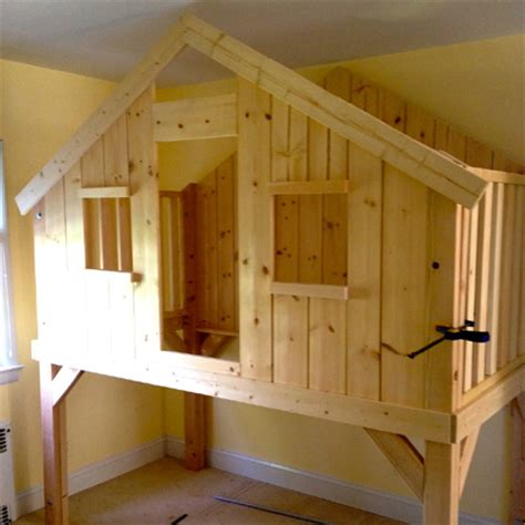 home dzine home diy diy loft bed playhouse  clubhouse