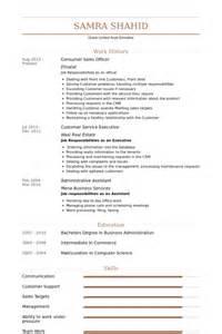resume format for sales officer sales officer resume fmcg