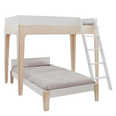 perch modern classic oeuf birch twin bunk bed kathy kuo home
