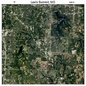 Aerial Photography Map of Lees Summit, MO Missouri