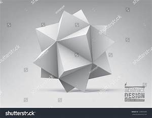 Abstract Geometric Shape Pyramids Graphic Design Stock ...