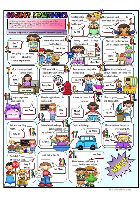 object pronouns worksheet  esl printable worksheets