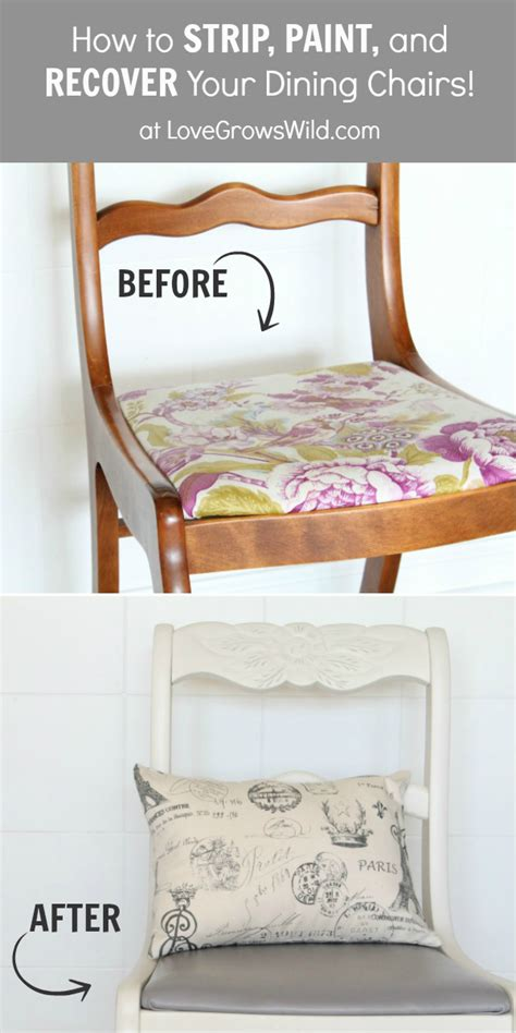 dining chair makeover how to paint and recover