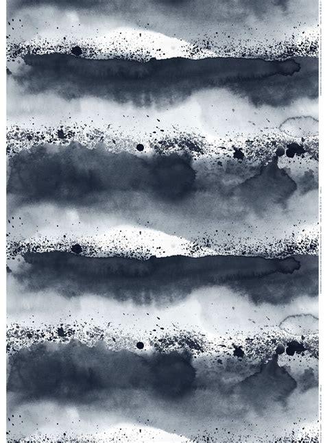 luovi linen fabric  marimekko watercolor pattern