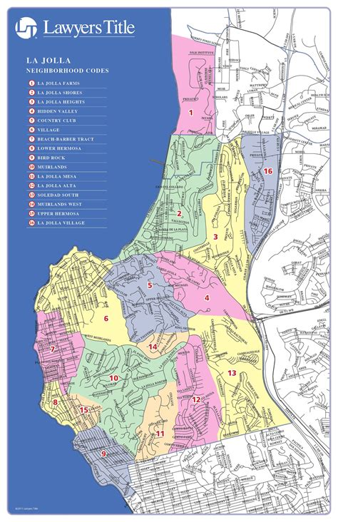 map  la jolla california neighborhoods  la jolla