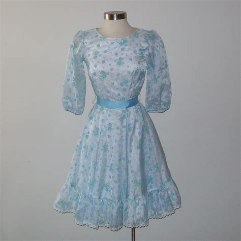 Vintage Shabby Chic Square Dance Dress Size Small