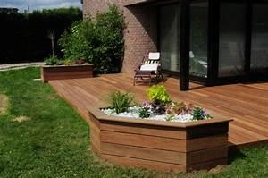 Realisation Terrasse En Bois  Travaux Jardin D U0026 39 Exterieur