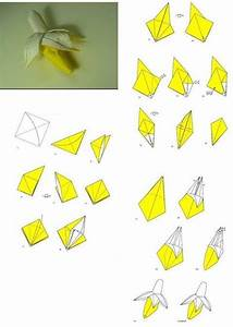 How To Fold Origami Paper Craft Banana Step By Step Diy