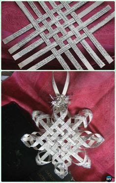 3d paper christmas tree with ribbon ribbon snowflake ornament the ribbon retreat also a idea for a snowflake hair clip