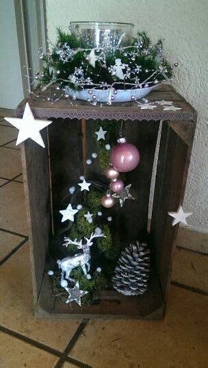holzkisten weihnachtlich dekorieren bildergebnis f 252 r basteln mit mandarinenkisten ideen weihnachtsdekoration deko weihnachten