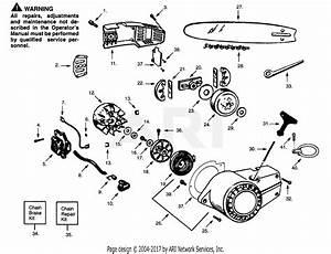 Poulan S25av Gas Saw Parts Diagram For Chain  U0026 Bar  Shroud