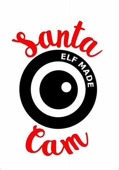 Santa Cam Christmas Svg Vinyl Pdf Cuttable