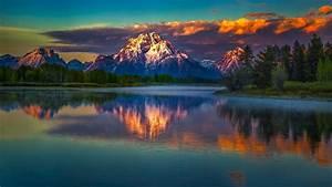 Nature, Landscape, Mountains, Clouds, Snowy, Peak, Trees