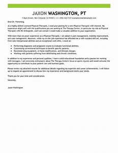 leading professional physical therapist cover letter With cover letter examples for physical therapy
