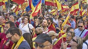 Catalonia crisis: Thousands march in Barcelona for Spanish ...