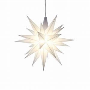 Herrnhuter Stern Beleuchtung : herrnhuter weihnachtsstern wei aus kunststoff 13cm ~ Michelbontemps.com Haus und Dekorationen