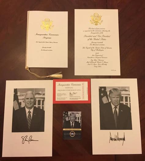 Authentic President Donald Trump Presidential Inauguration