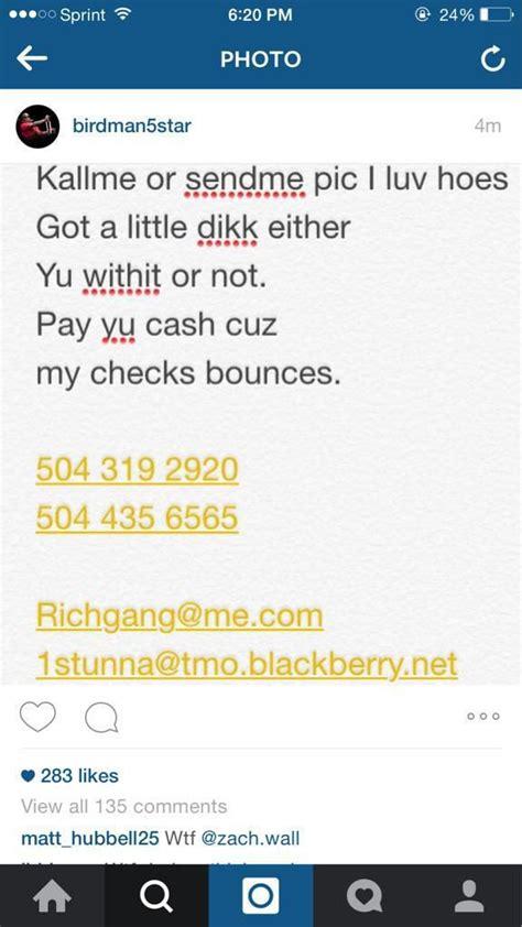 instagram phone number birdman instagram hacked phone numbers emails leaked
