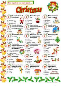 Christmas Quiz worksheet - Free ESL printable worksheets