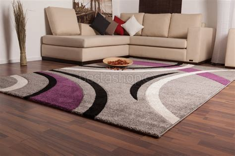 tapis salon marron chocolat