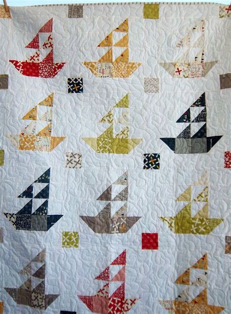 Sailboat Quilt by Dreamy Sailboat Quilt Boy S Quilt Lap Quilt By Dreamy