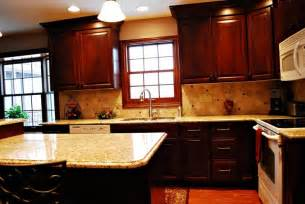 kitchens islands with seating venetian gold granite cherry cabinets kitchen