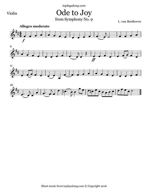 ode to joy from symphony no 9 toplayalong com