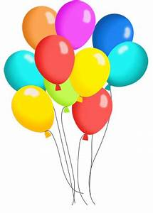 Happy Birthday Balloons Clipart | Clipart Panda - Free ...