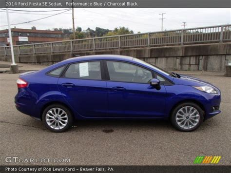 performance blue  ford fiesta se sedan charcoal black interior gtcarlotcom vehicle