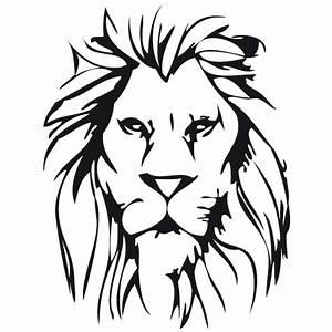 Löwenkopf Lion Wandtattoo
