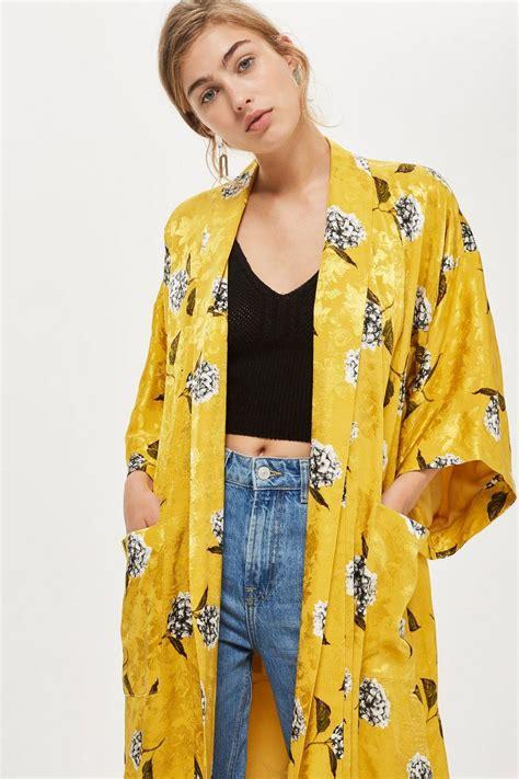 floral print maxi kimono jacket topshop