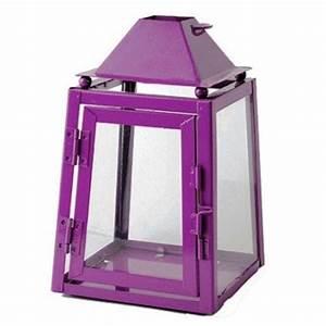 Grande Lanterne Deco : grande lanterne m tal prune ~ Teatrodelosmanantiales.com Idées de Décoration