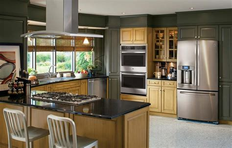 kitchens  stainless steel appliances