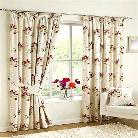 Floral Curtains Ready Made by Ready Made Curtains Chloe Fuchsia Floral Set Curtains