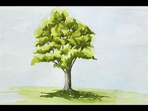 Comment Creuser Un Tronc D Arbre : peindre un arbre l 39 aquarelle facilement youtube ~ Melissatoandfro.com Idées de Décoration