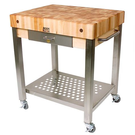 chopping block kitchen island boos technica kitchen trolley with chopping board